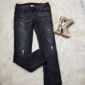TRUE RELIGION Black Skinny Jeans Women's 27